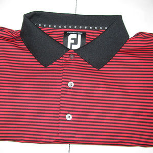 FootJoy 2xl Golf Polo SS Mens  Red andBlack Stripe